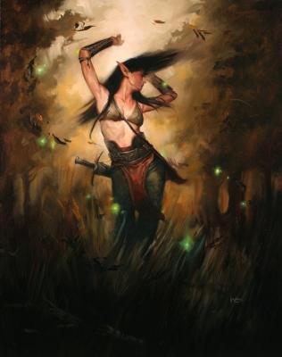 Лесная эльфийка. Иллюстрация Лукаса Грациано