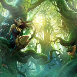 Лесной эльф. Иллюстрация Мигеля Коимбры