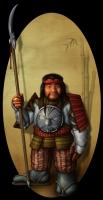 Oriental Dwarf (Korobokuru). Рисунок Фрэнсиса Наварро (Francis RP Navarro)