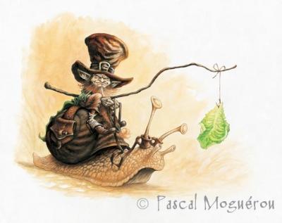 Корриган на улитке. Рисунок Паскаля Могеро
