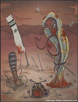 Абуми-гути, Куро-яро и Фуру-уцубо. Иллюстрация Мэтью Мэйера