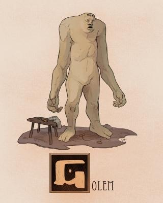 """Голем. Иллюстрация Натана Андерсона (Nathan J. Anderson, """"Deimos-Remus"""")"""