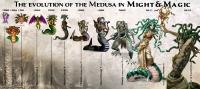 Эволюция медузы в серии игр Might&Magic