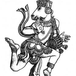 Гандхарвы. Иллюстрация Мерли Инсинга