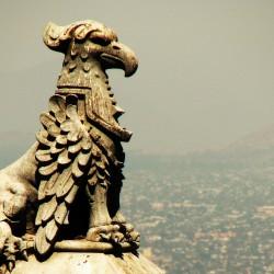 Грифон. Скульптура в Сантьяго де Чили