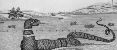 Глочестерская морская змея. Гравюра XIX века