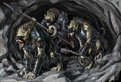 Гноллы-защитники. Иллюстрация Бэна Вуттена