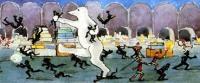Сцена битвы с гоблинами в подвале Деда Мороза