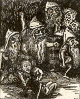 """Гоблины. Иллюстрация Артура Хагеса к книге Дж.Макдональда """"Принцесса и гоблин"""""""