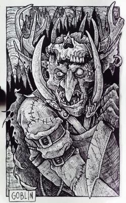 Гоблин. Иллюстрация Дарека Кшака (DK13Design)