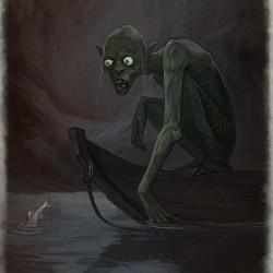 Горлум. Иллюстрация Юлии Алексеевой