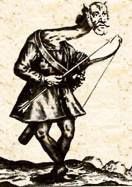 Человек-журавль. Илюстрация из кельнской брошюры