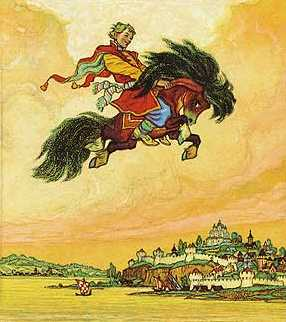 Конёк-Горбунок. Иллюстрация к одноименной книге