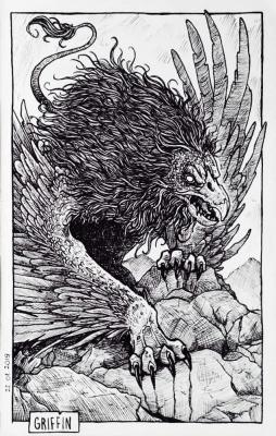 Грифон. Иллюстрация Дарека Кшака (DK13Design)