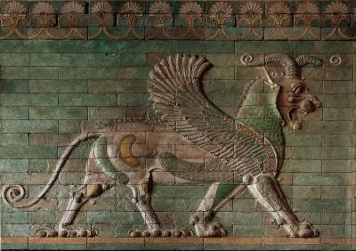 Грифон. Керамический рельеф дворца в Сузах