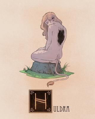 """Хульдра. Иллюстрация Натана Андерсона (Nathan J. Anderson, """"Deimos-Remus"""")"""