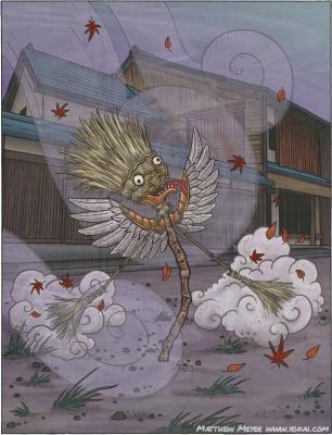 Хахаки-гами. Иллюстрация Мэтью Мэйера