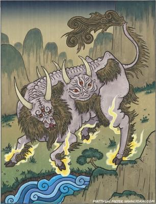 Хакутаку. Иллюстрация Мэттью Мэйера