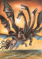 Болгарский дракон Хала. Иллюстрация С.Плаксина