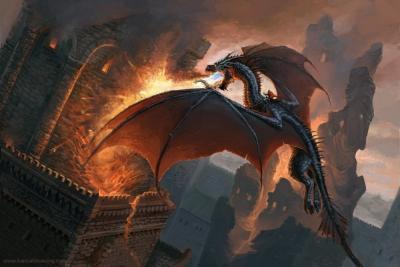 Дракон. Рисунок Ханны Бёвин