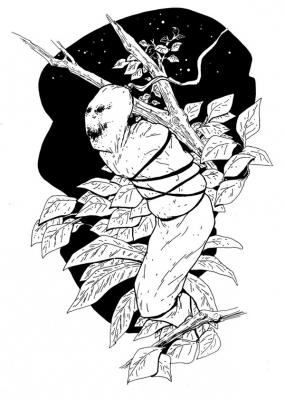 """Ханту Голек. Иллюстрация Мод Кадира (Mohd Kadir) для """"Малазийской книги нежити"""""""