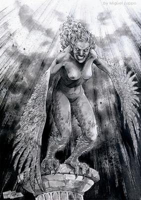 Гарпия. Иллюстрация Мигеля Зуппо