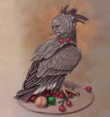 Гарпия. Иллюстрация Майка Гарви