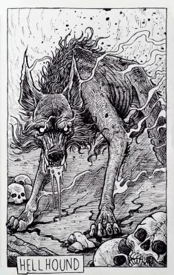Адская гончая. Иллюстрация Дарека Кшака (DK13Design)