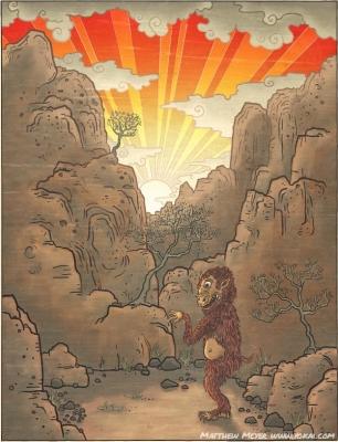 Хидэри-гами. Иллюстрация Мэттью Мэйера