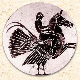 Гиппалектрион. Чернофигурный килик, примерно 550 год до н.э.