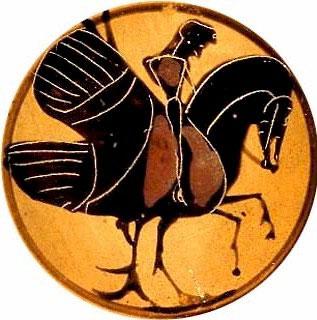 Гиппалектрион. Изображение на дне чаши, примерно 560-550 гг. до н.э.
