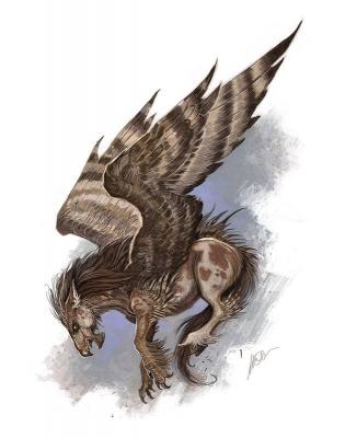 Гиппогриф. Иллюстрация Уильяма О'Коннора
