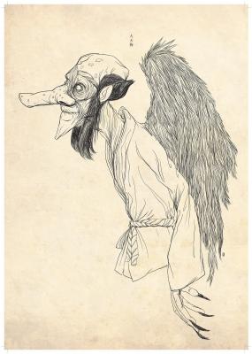 Дай-тэнгу (Dai-Tengu). Рисунок Хиро Кавахара