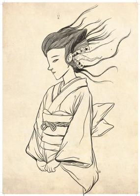 Футакути-онна (Futakushi no Ona). Рисунок Хиро Кавахара