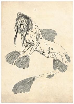 Нингё (Ningyo). Рисунок Хиро Кавахара
