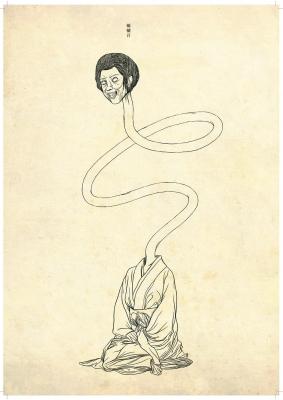 Рокуроккуби (Rokuro Kubi). Рисунок Хиро Кавахара