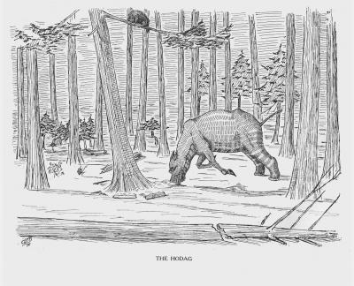 """Ходаг. Иллюстрация Кёр Дю Буа из книги """"Устрашающие твари промысловых лесов"""""""