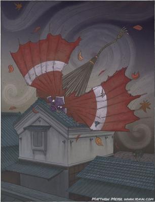 Хонэ-каракаса. Иллюстрация Мэтью Мэйера