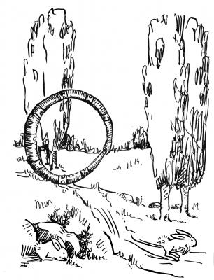 """Обруч-змей. Иллюстрация Маргарет Рэмси Трайон из книги """"Устрашающие твари"""""""