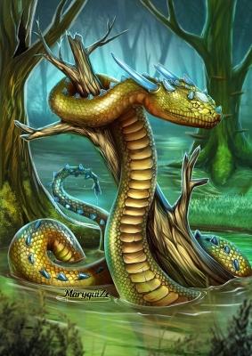 Рогатая змея. Иллюстрация Марии Ефремовой