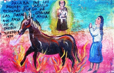 Ретабло за то, что демоническая лошадь не принесла бед, 1970 год