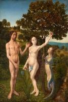 Грехопадение. Картина Хуго ван дер Гуса, после 1479 года