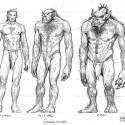Человек-Полуорк-Орк. Рисунок Тодда Локвуда