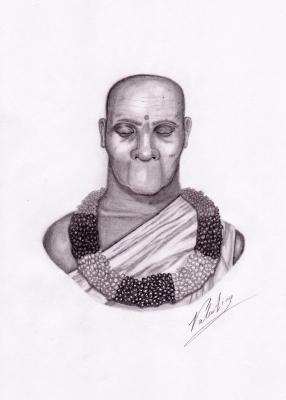 Леуман. Рисунок Валентина Дельвесто