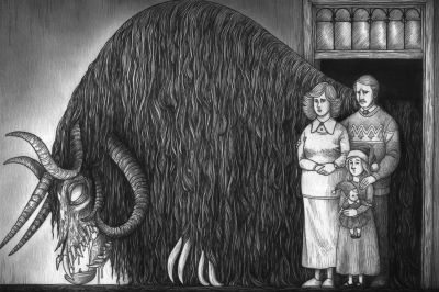 Йольский Вэттэ (Julevætten). Иллюстрация Джона Кенна Мортенсена