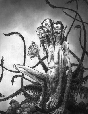 Грюла (Grýla). Иллюстрация Джона Кенна Мортенсена