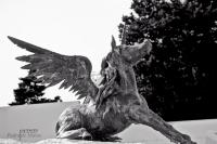 Крылатый единорог. Скульптура