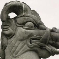 Эал (йейл) Бофортов. Скульптурное изображение (профиль).