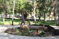 Памятник Шурале на центральной площади города Бугульмы