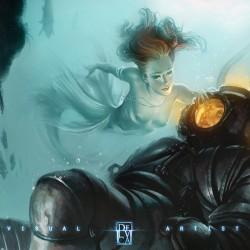 In the deep. Иллюстрация Антонио Де Люка (Antonio De Luca)